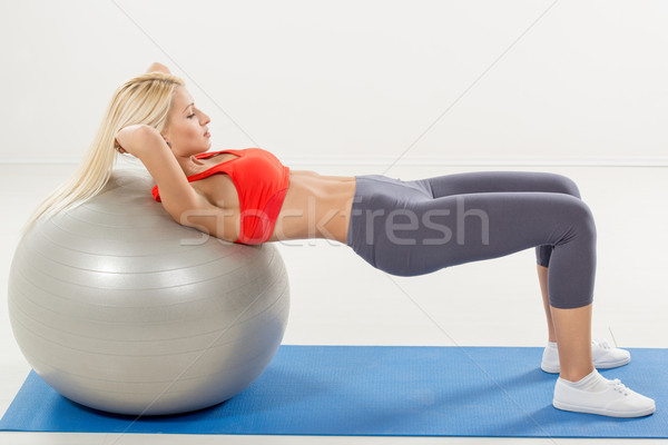 Sit-ups Exercise Stock photo © MilanMarkovic78