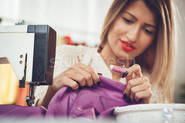 Stock photo: Choosing The Right Thread