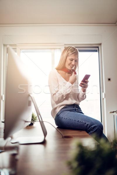 Updating Her Online Profile Stock photo © MilanMarkovic78