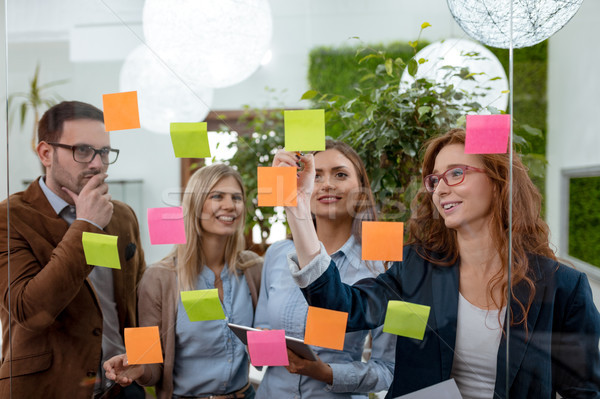 Creative Ideas In Adhesive Note Stock photo © MilanMarkovic78