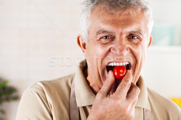 Red Cherry tomato Stock photo © MilanMarkovic78