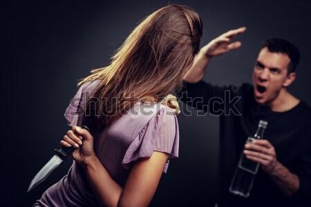 Domestic Violence Stock photo © MilanMarkovic78