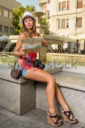 Focusing On City Map Stock photo © MilanMarkovic78