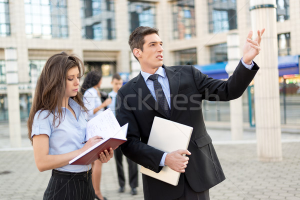 Young Businessman With His Secretary Stock photo © MilanMarkovic78