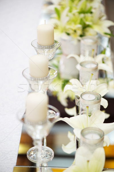 Wedding table decoration Stock photo © MilanMarkovic78