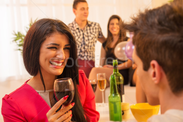 Flirting On House Party Stock photo © MilanMarkovic78