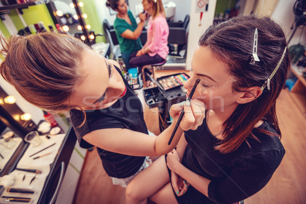 Makyaj akademi makyaj sanatçısı kadın Stok fotoğraf © MilanMarkovic78