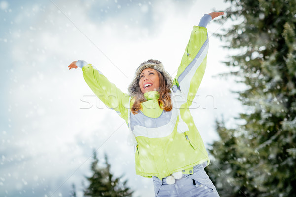 Celebrating Winter Vacations  Stock photo © MilanMarkovic78
