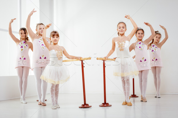 Little Girls Practicing Ballet Stock photo © MilanMarkovic78