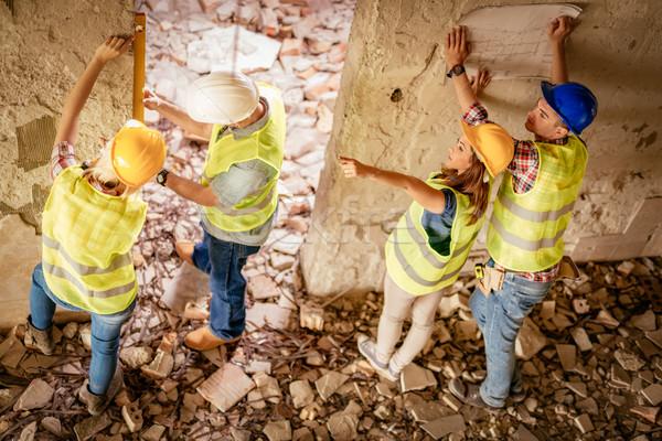 Reconstrução catástrofe quatro construção plano edifício Foto stock © MilanMarkovic78