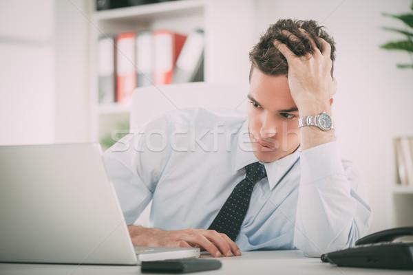 исчерпанный бизнесмен служба мышления Сток-фото © MilanMarkovic78