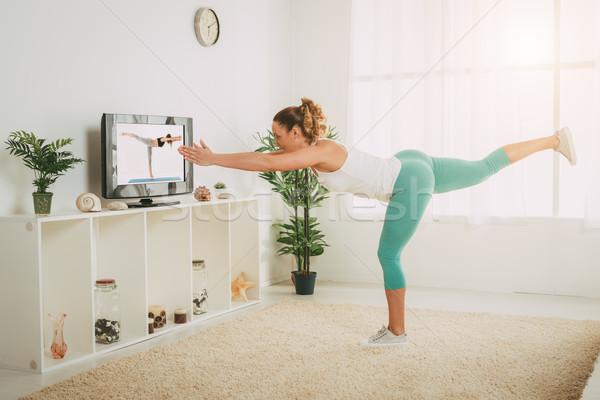 Girl Doing Exercises  Stock photo © MilanMarkovic78
