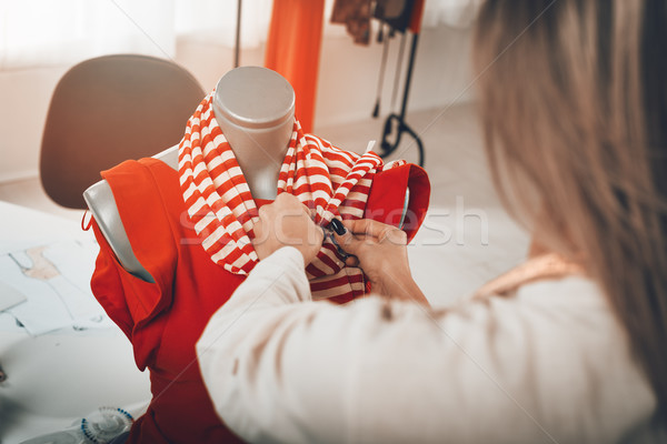 Stock photo: Creating Dress On A Mannequin