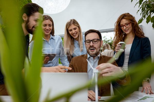 Toekomst energie team smart geschoold Stockfoto © MilanMarkovic78