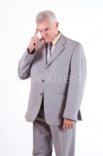 Concerned Senior Businessman Stock photo © MilanMarkovic78