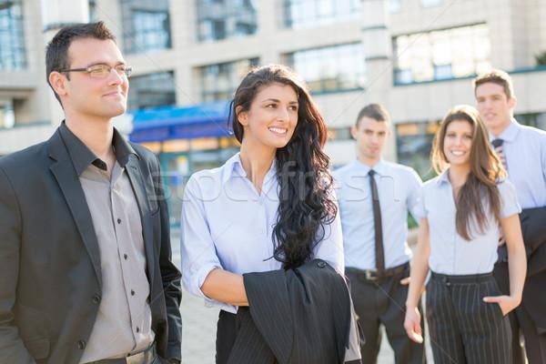 Jeunes élégant affaires femme d'affaires permanent Photo stock © MilanMarkovic78