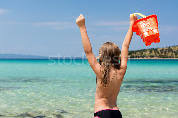 Stock photo: Little Girl At The Beach
