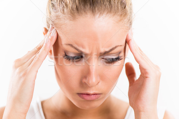 Young Woman With A Headache  Stock photo © MilanMarkovic78