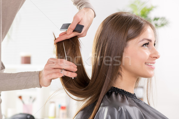 Stock photo: At the hairdresser's.