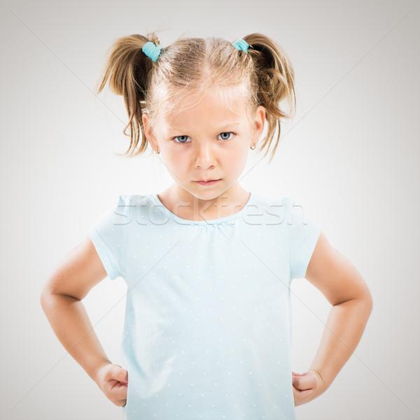 Angry little girl Stock photo © MilanMarkovic78