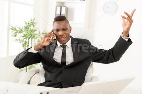 African Businessman Stock photo © MilanMarkovic78