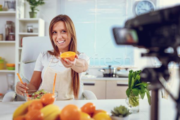 Yemek sağlıklı yaşamak uzun çekici uygunluk Stok fotoğraf © MilanMarkovic78