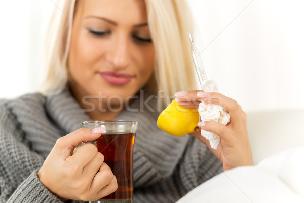 Lemon And  Tea Against Colds Stock photo © MilanMarkovic78
