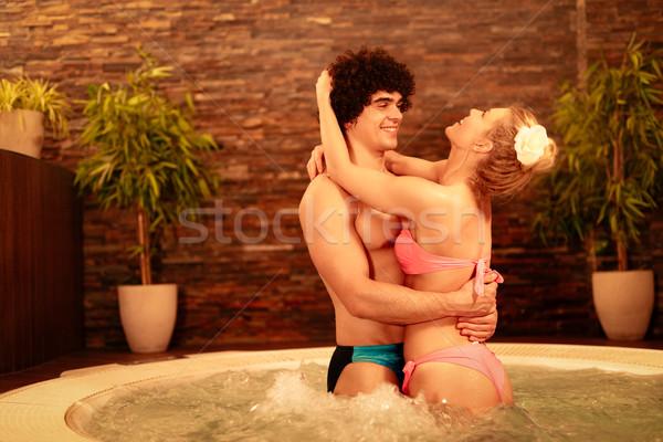 пару Spa красивой Сток-фото © MilanMarkovic78