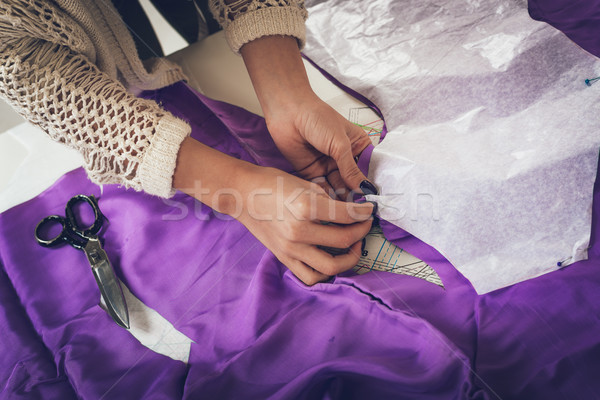 Stock photo: Female Tailor At Work