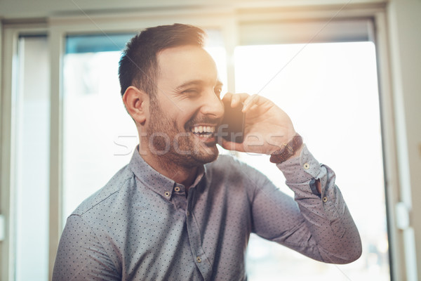 His Smile Is A Sure Sign On Success Stock photo © MilanMarkovic78