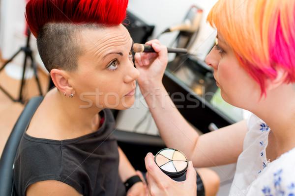 Maquiador base sombra mulheres trabalhando Foto stock © MilanMarkovic78