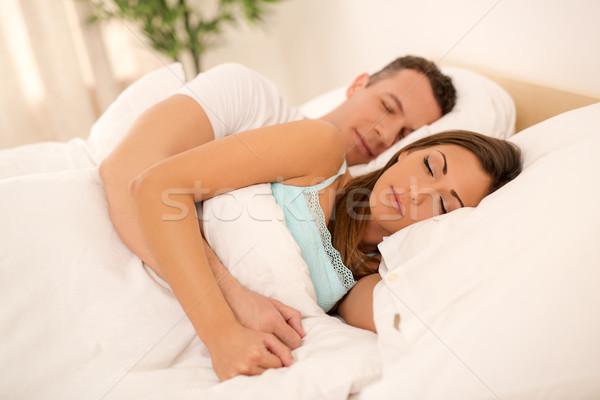 Young Couple Sleeping Stock photo © MilanMarkovic78