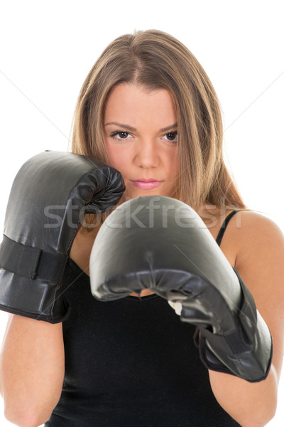 Boxing woman Stock photo © MilanMarkovic78