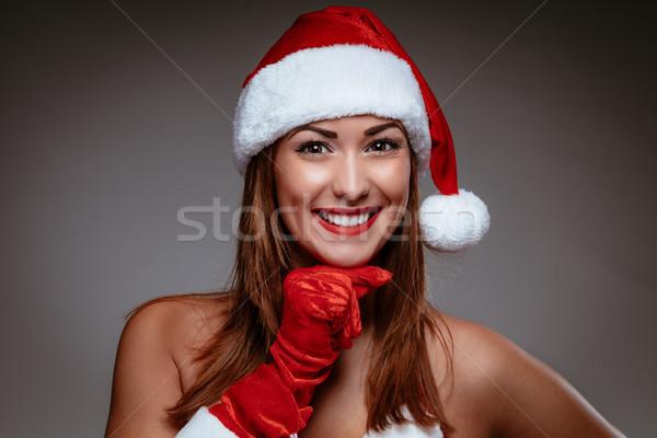 Christmas Girl Stock photo © MilanMarkovic78