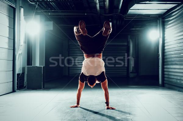 Handstand Stock photo © MilanMarkovic78