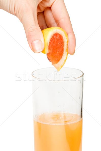 Czerwony grejpfrut soku biały Zdjęcia stock © MilanMarkovic78