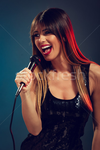 Pretty Woman Singer Stock photo © MilanMarkovic78