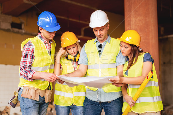 команда плана четыре строительство глядя реконструкция Сток-фото © MilanMarkovic78