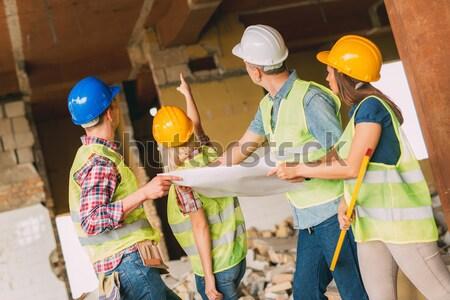 Reconstrução quatro construção planos edifício Foto stock © MilanMarkovic78