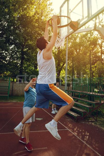 Basketball One On One Stock photo © MilanMarkovic78