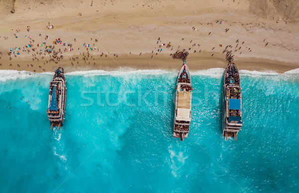 Tourists Arrived At The Beach Stock photo © MilanMarkovic78