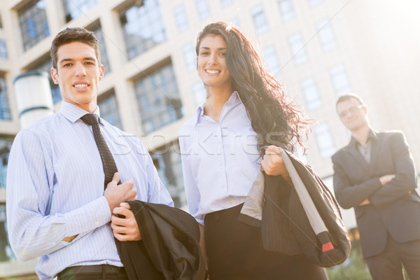 Jeunes élégant femme d'affaires affaires permanent Photo stock © MilanMarkovic78