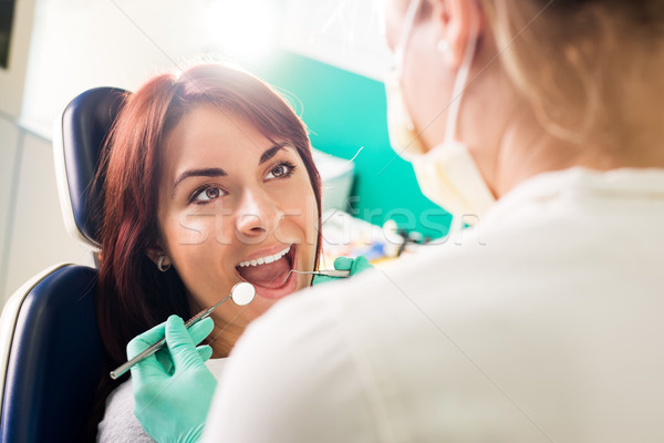 Ready for a dental check-up. Stock photo © MilanMarkovic78