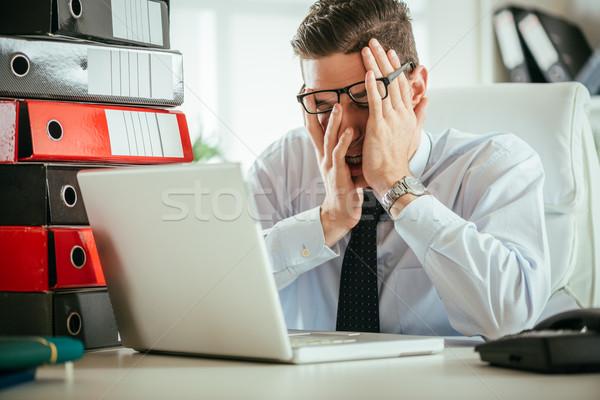 Tired Businessman Stock photo © MilanMarkovic78