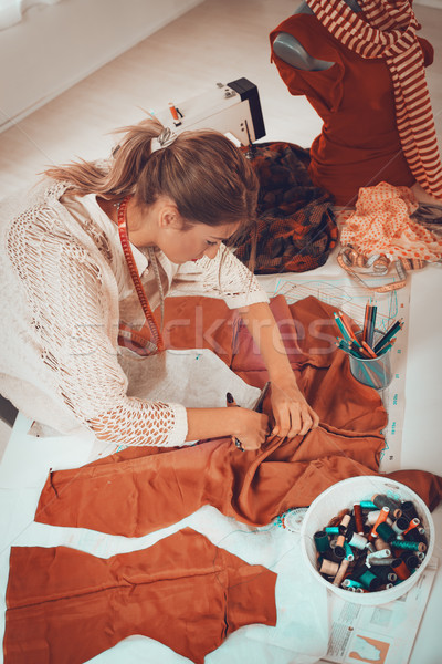 Young Woman Tailor At Work Stock photo © MilanMarkovic78