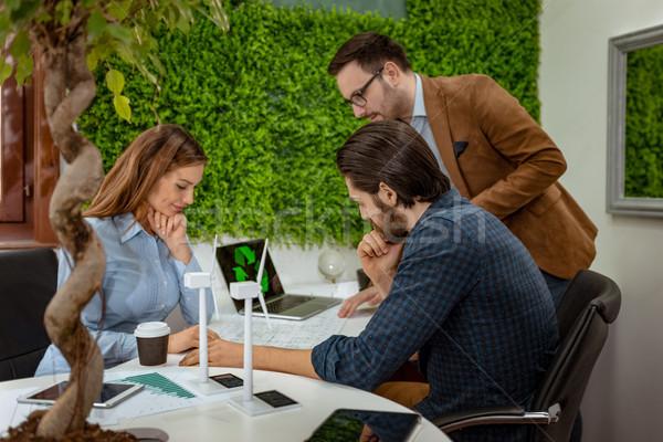 Green Ideas In Green Office Stock photo © MilanMarkovic78
