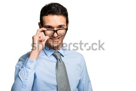 Man wearing glasses Stock photo © Minervastock