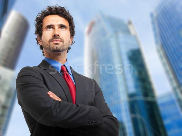Işadamı açık adam çalışmak yürütme iş Stok fotoğraf © Minervastock