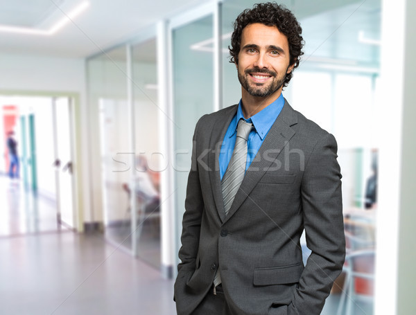 Portrait of an handsome businessman Stock photo © Minervastock