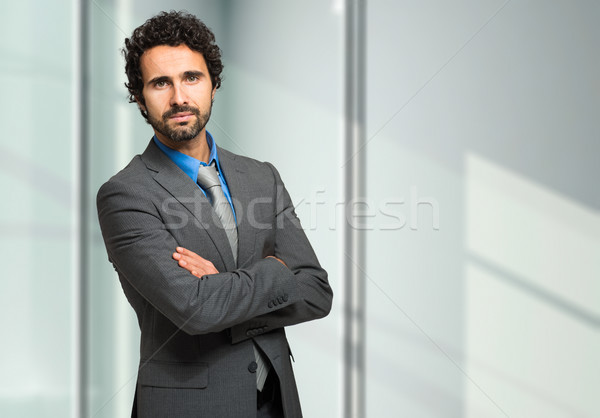 Handsome manager in his office Stock photo © Minervastock